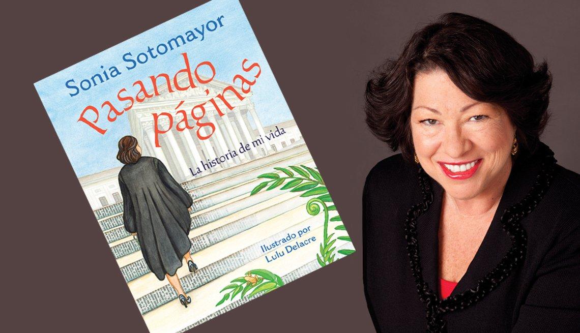Foto de Sonia Sotomayor e imagen de su libro