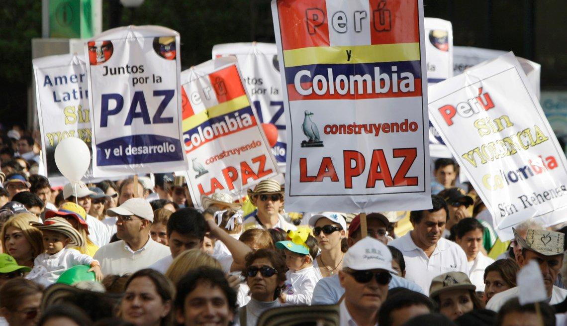 Protesta por la paz en Perú