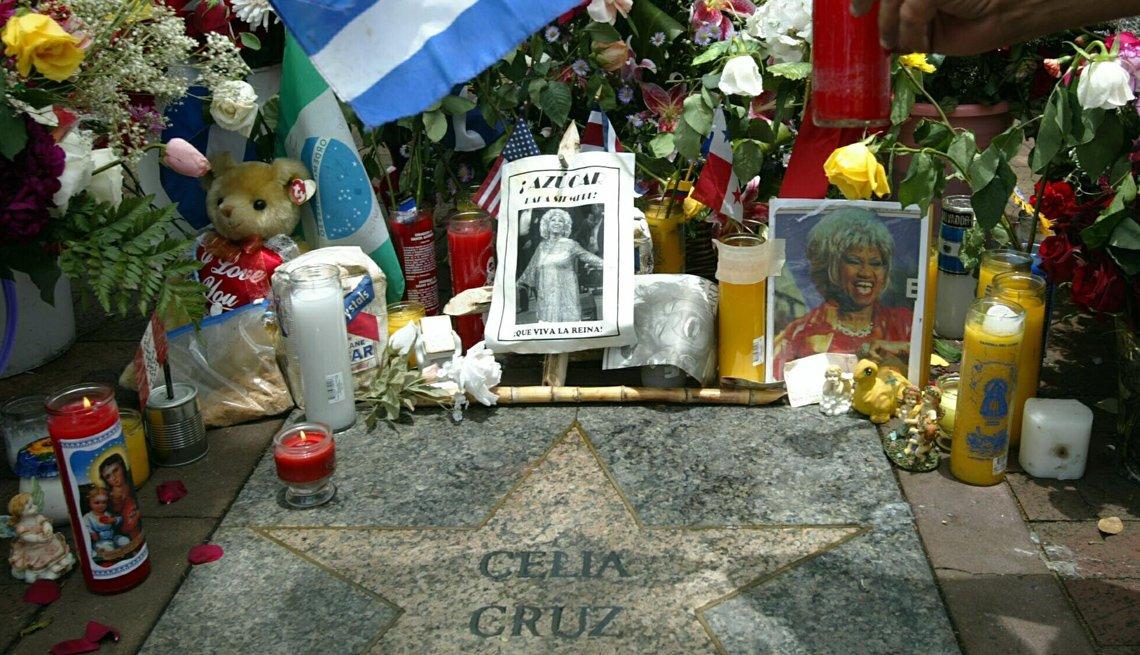 Conmemoración tras la muerte de Celia Cruz