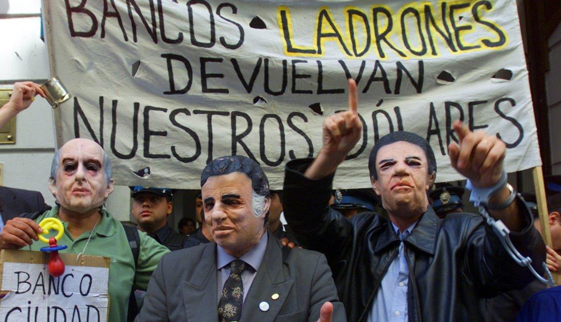 Grupo de personas protesta