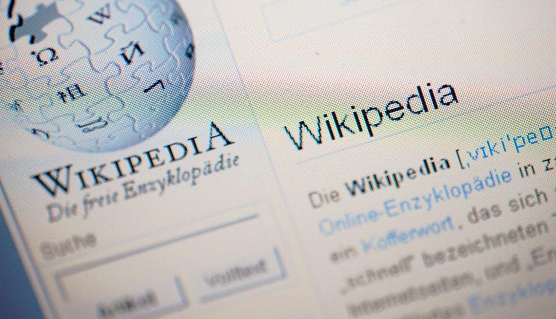 Imagen de una página de Wikipedia