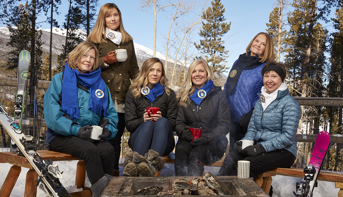 These six women are descendants of the late Leon Burgess, a World War II veteran who spent 30 years in the military