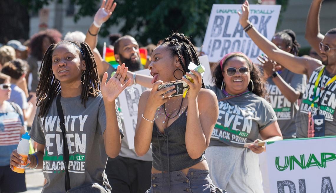 item 5 of Gallery image - Black pride parade in Washington D C