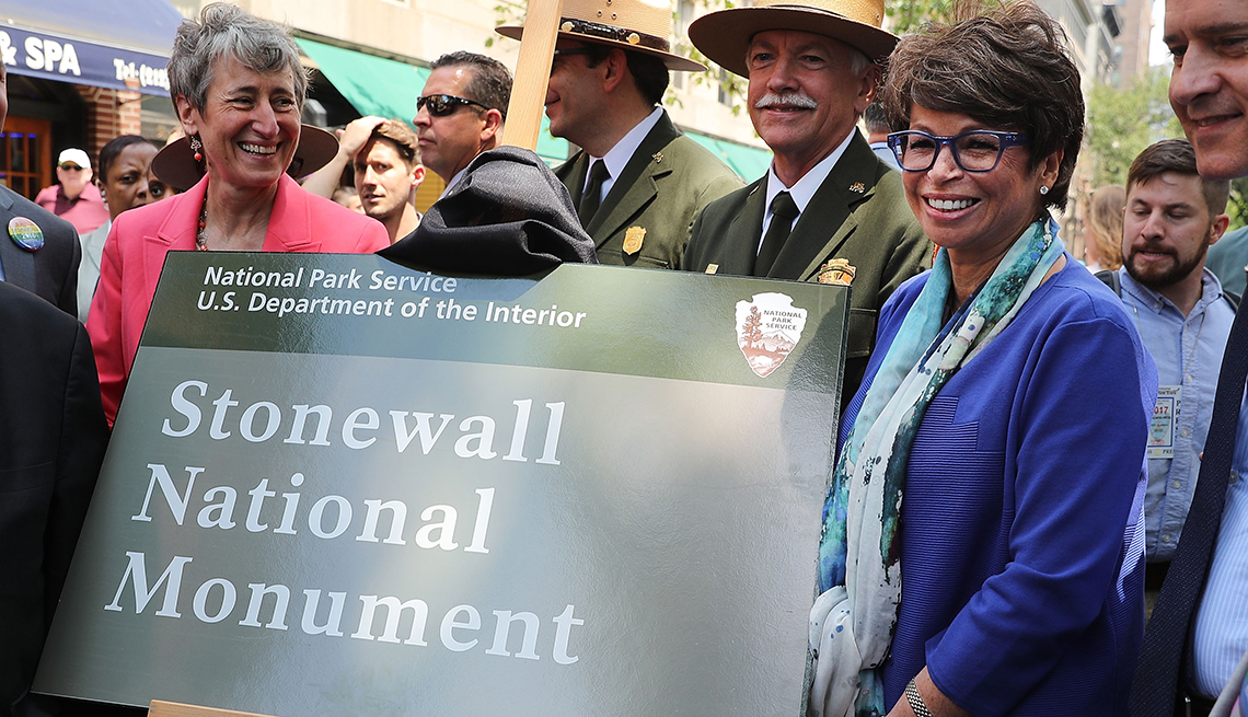 item 8 of Gallery image - The plaque honoring the Stonewall National Monument
