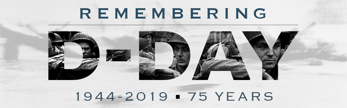 D-Day 75th anniversary remembrance banner
