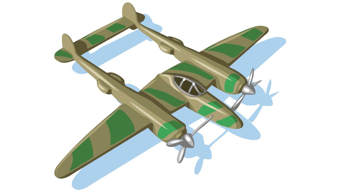 illustration of  a WWII-era military plane