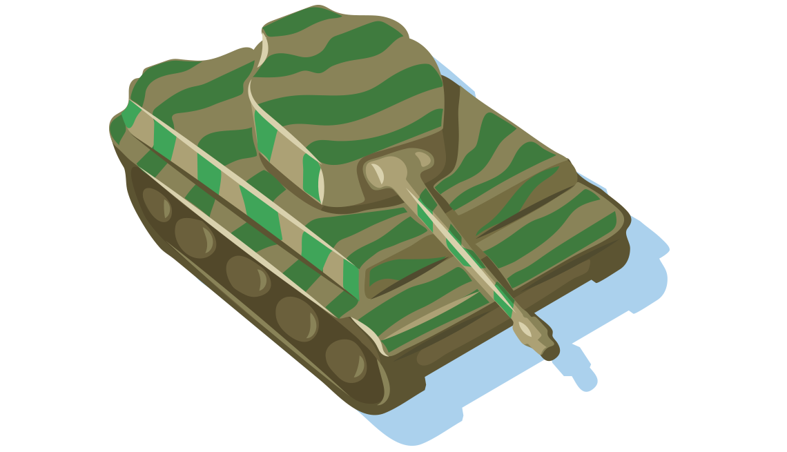 illustration of a WWII-era military tank