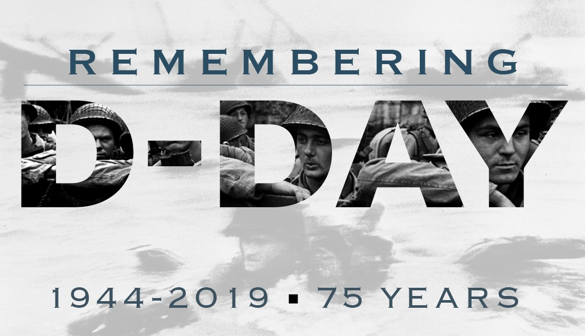 D-Day 75th anniversary remembrance graphic