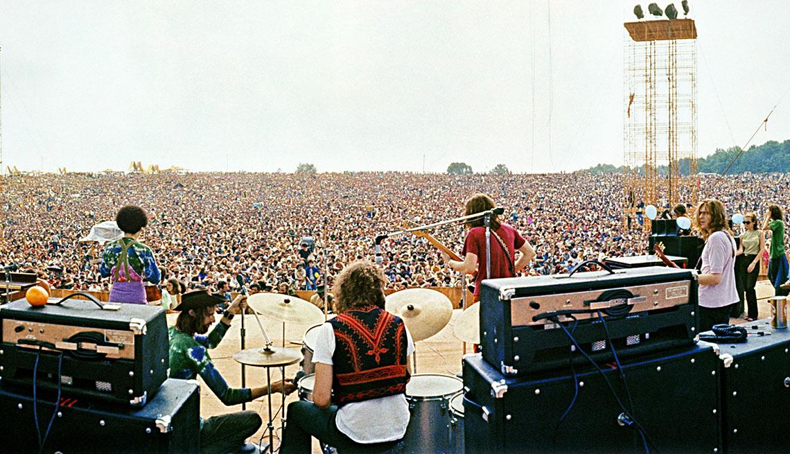La banda de Joe Cocker, en el festival de Woodstock, 1969