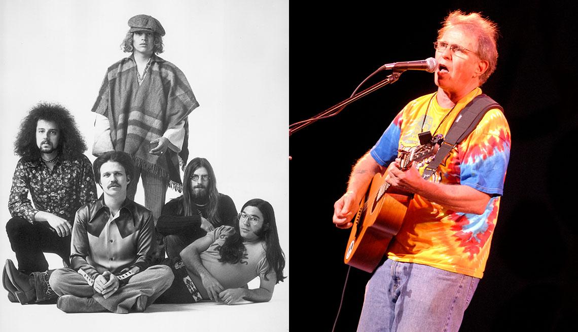 Country Joe y The Fish en 1969 y 2011