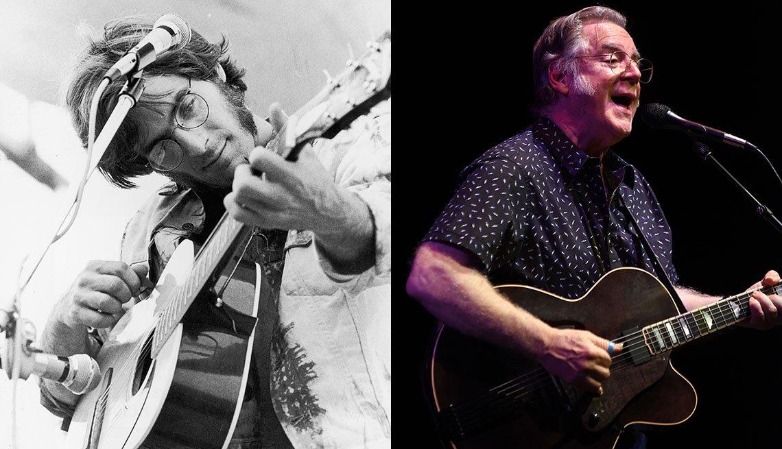 John Sebastian performing in 1969 and 2019