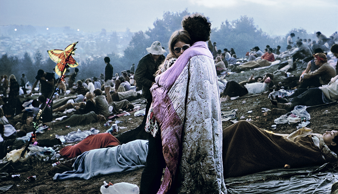 image from the cover of the Woodstock concert album, featuring Bobbi and Nick Ercoline