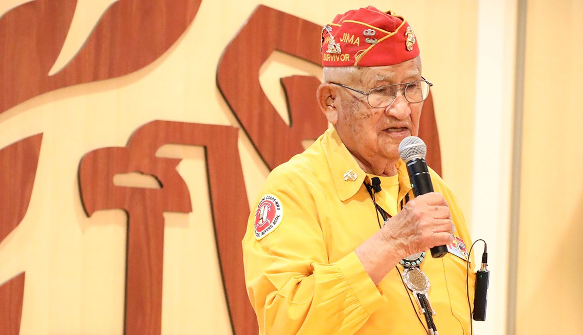 Thomas Begay speaks at the I R S