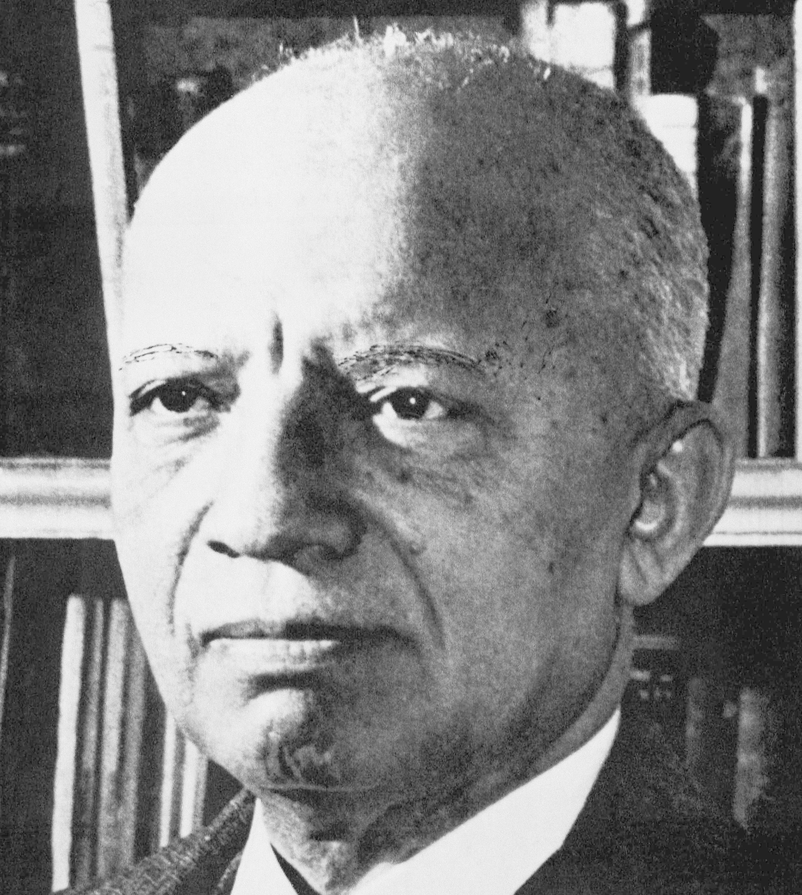African American historian and author Carter G. Woodson in an undated photograph