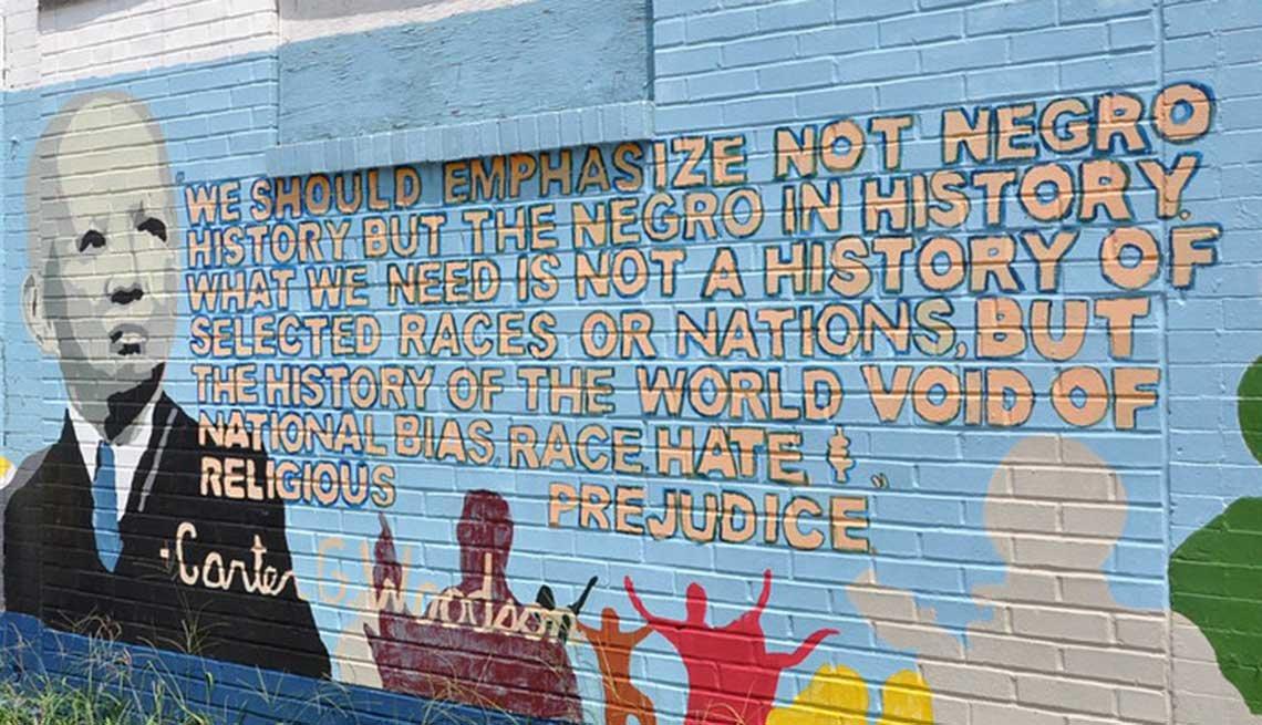 Carter G Woodson Mural circa 2012