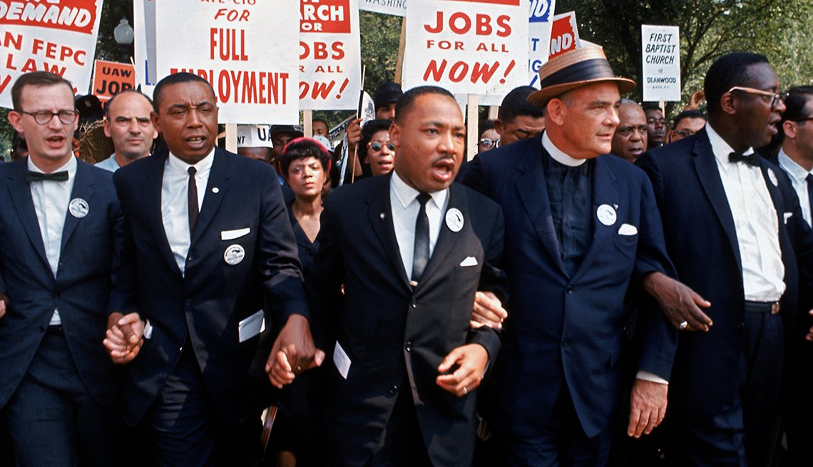 Martin Luther King Junior leads a march