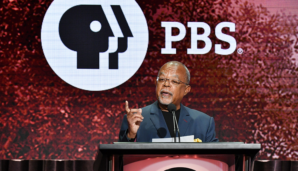 Henry Louis Gates Junior speaks at an event