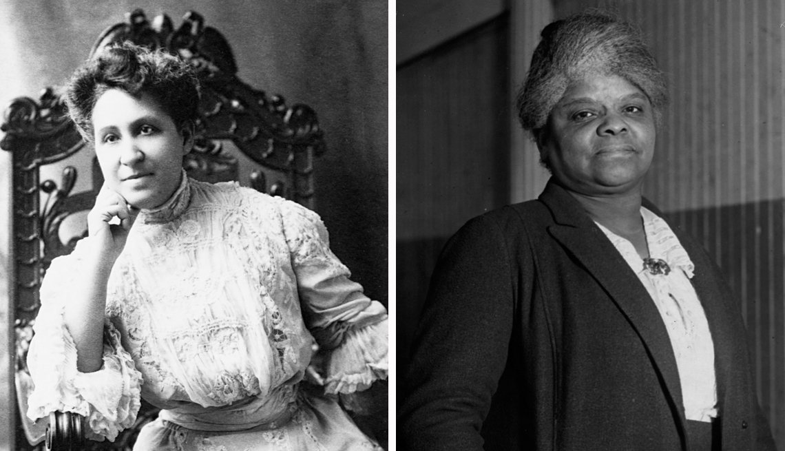 portraits of two early black suffragists mary church terrell and ida b wells