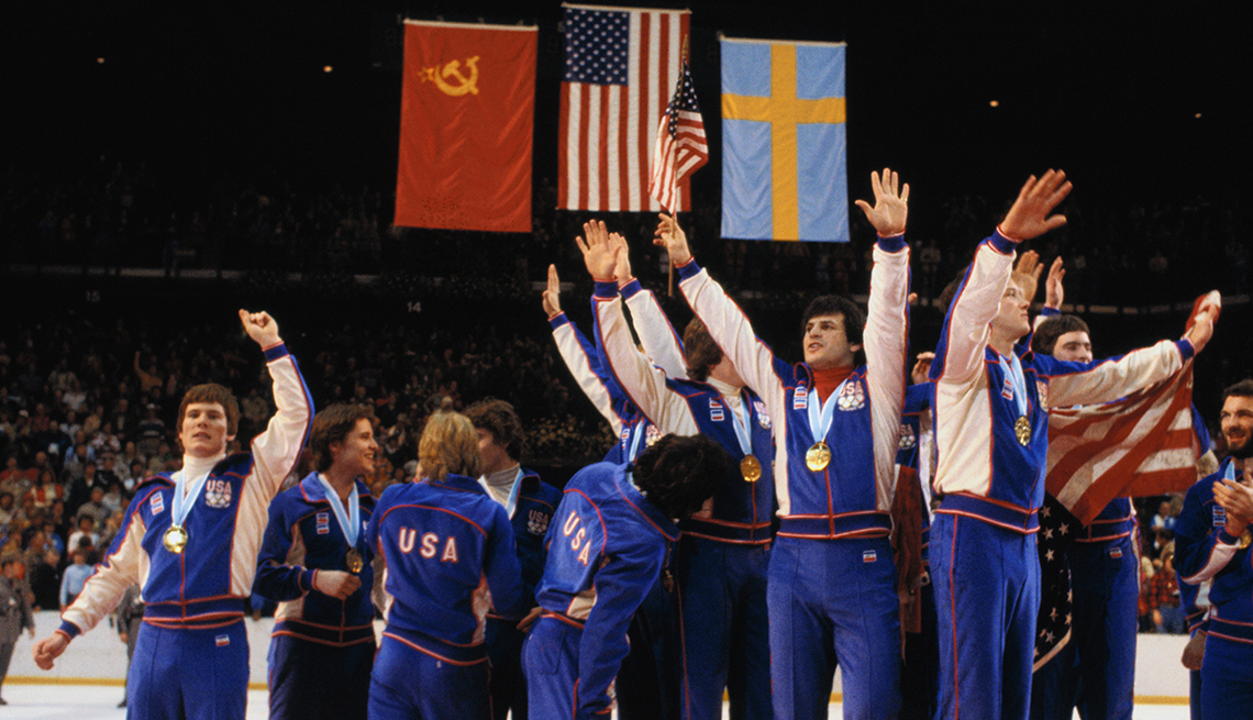 item 4 of Gallery image - U S Mens Hockey team wins the gold medal at the winter olympics