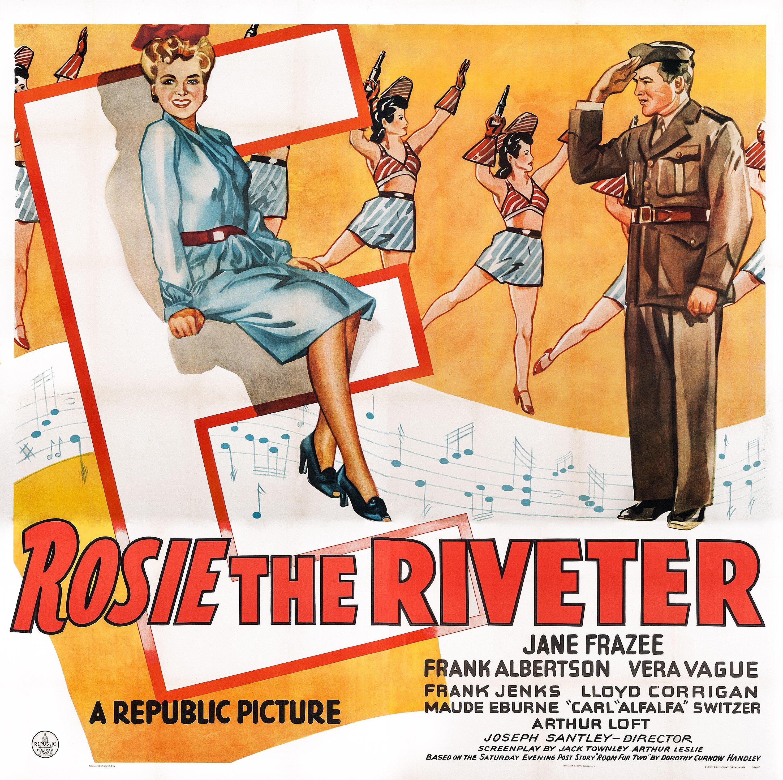 Rosie The Riveter, poster, US poster, front from left: Jane Frazee, Frank Albertson, 1944.
