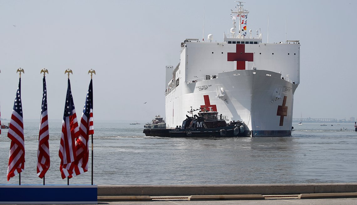 item 1 of Gallery image - The hospital ship comfort comes ashore