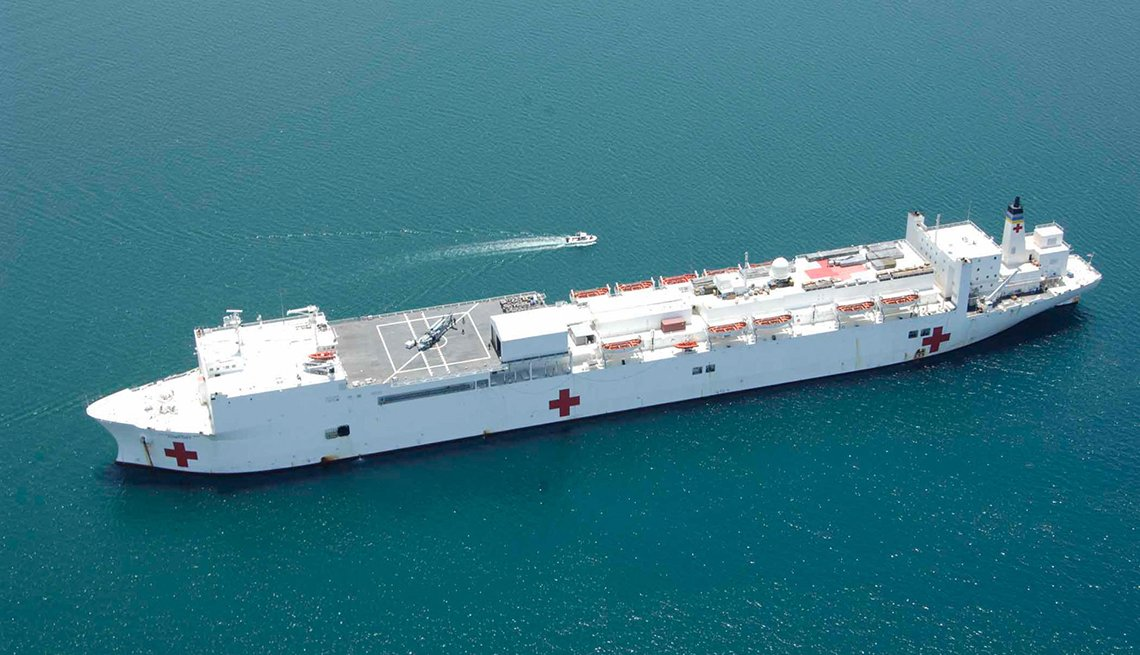 item 6 of Gallery image - A hospital ship in the open waters of the ocean