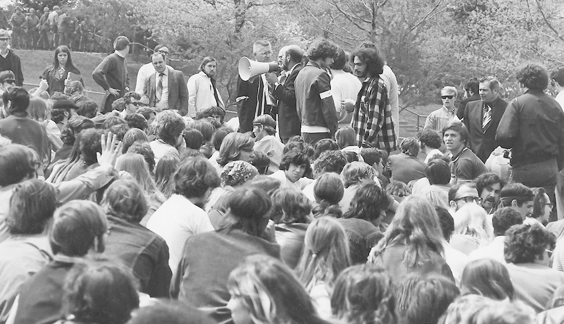 A group of people at Kent State University