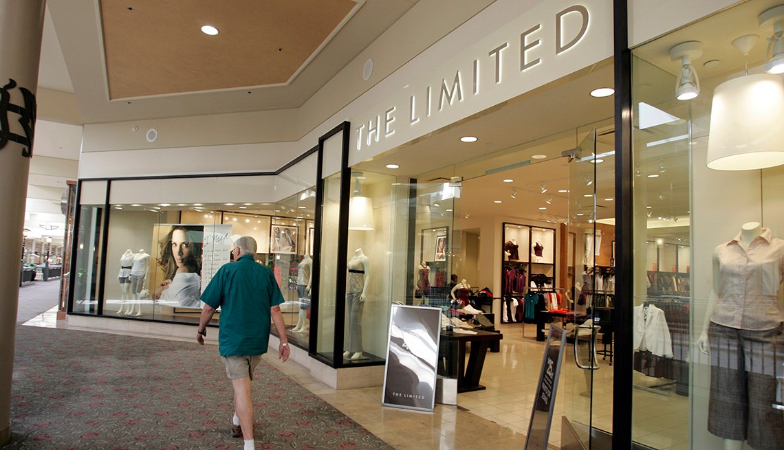 item 11 of Gallery image - exterior view of the limited clothing store as seen in an indoor shopping mall