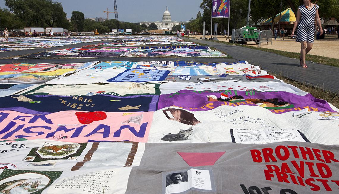 AIDS Memorial Quilt (Edredón conmemorativo del sida)