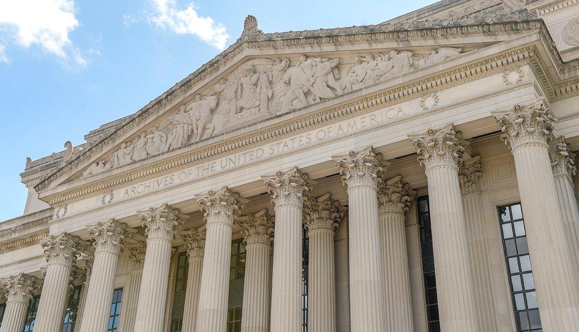 Edificio de los Archivos Nacionales en Washington D.C.