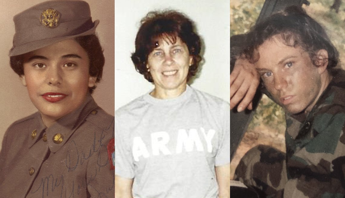 Three women veterans