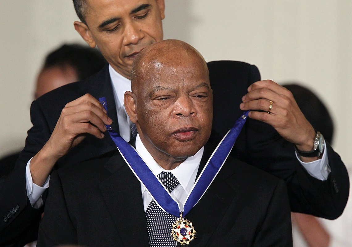 John Lewis is awarded the Medal of Freedom