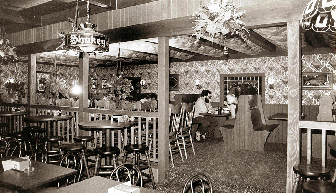 item 4 of Gallery image - black and white photo of a restaurant interior taken in nineteen sixty eight