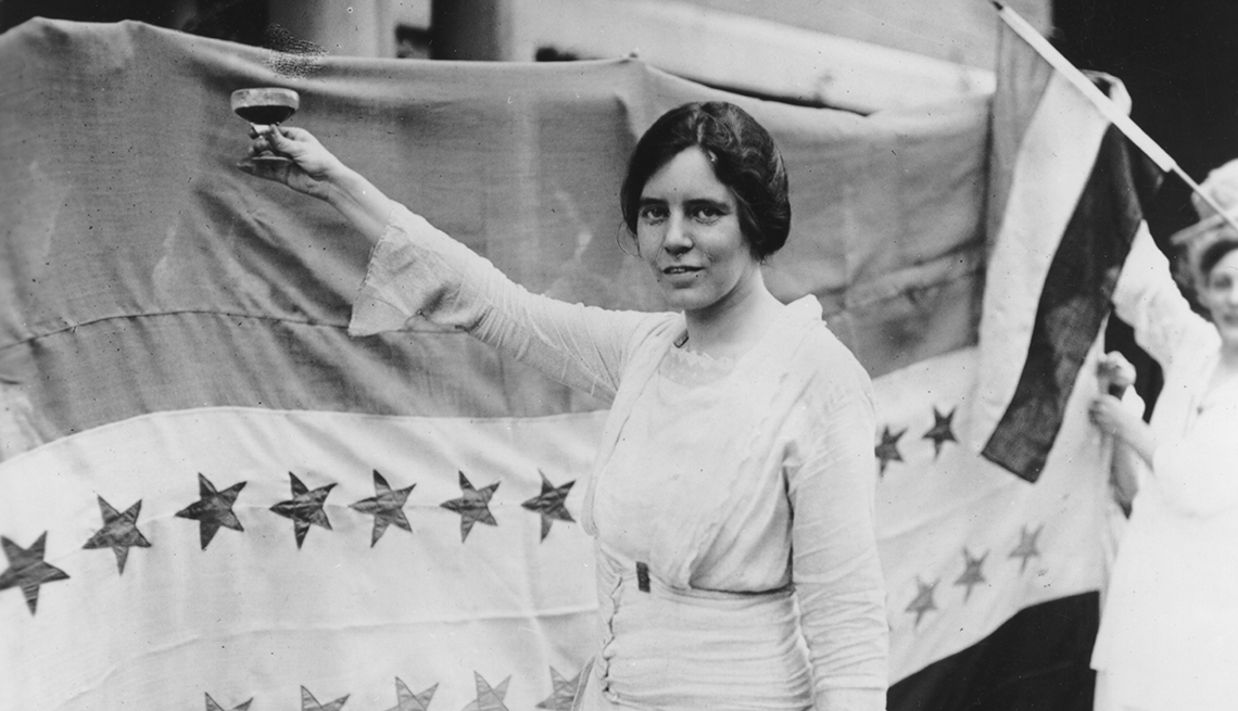 item 10, Gallery image. Suffragist Alice Paul toasting Tennessee's ratification of the 19th Amendment.