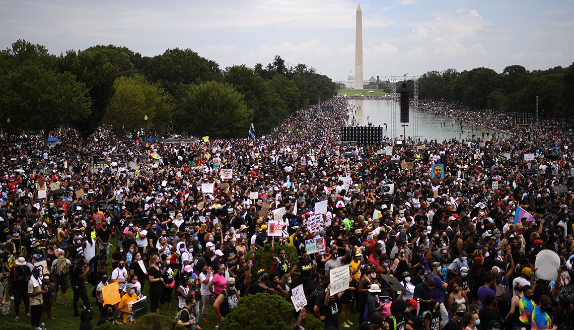 The crowd at the march on washington