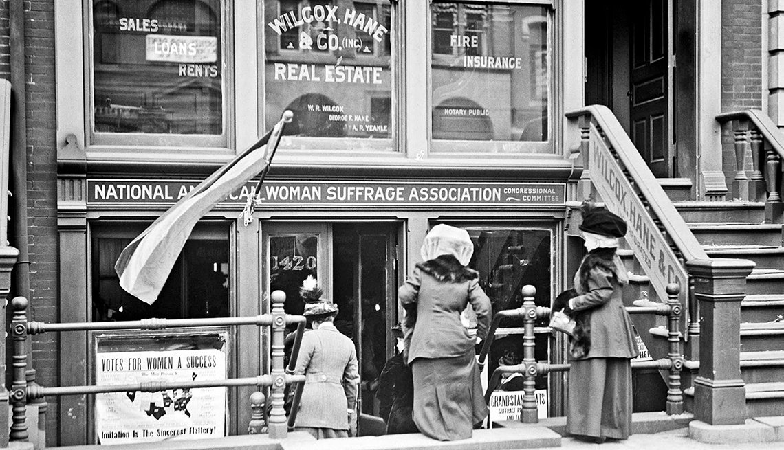 item 6, Gallery image. Headquarters of the National American Woman Suffrage Association.