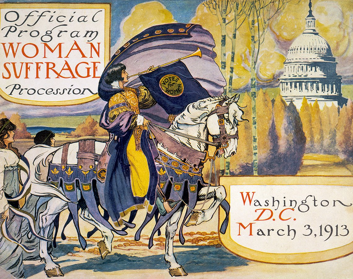 item 8, Gallery image. Official program for the Woman Suffrage Procession.