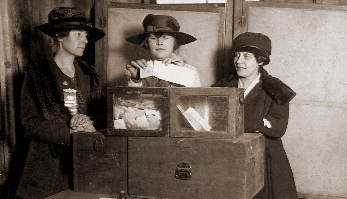 Women voting for the first time