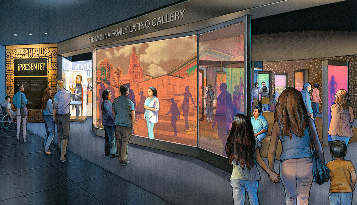 Molina Family Latino Gallery that will be in the Smithsonian's National Museum of American History starting in 2022.