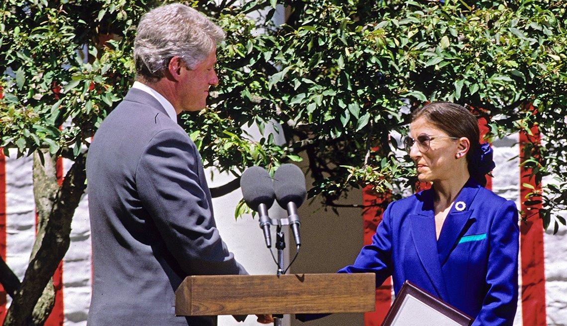 Ruth Bader Ginsburg and President Bill Clinton