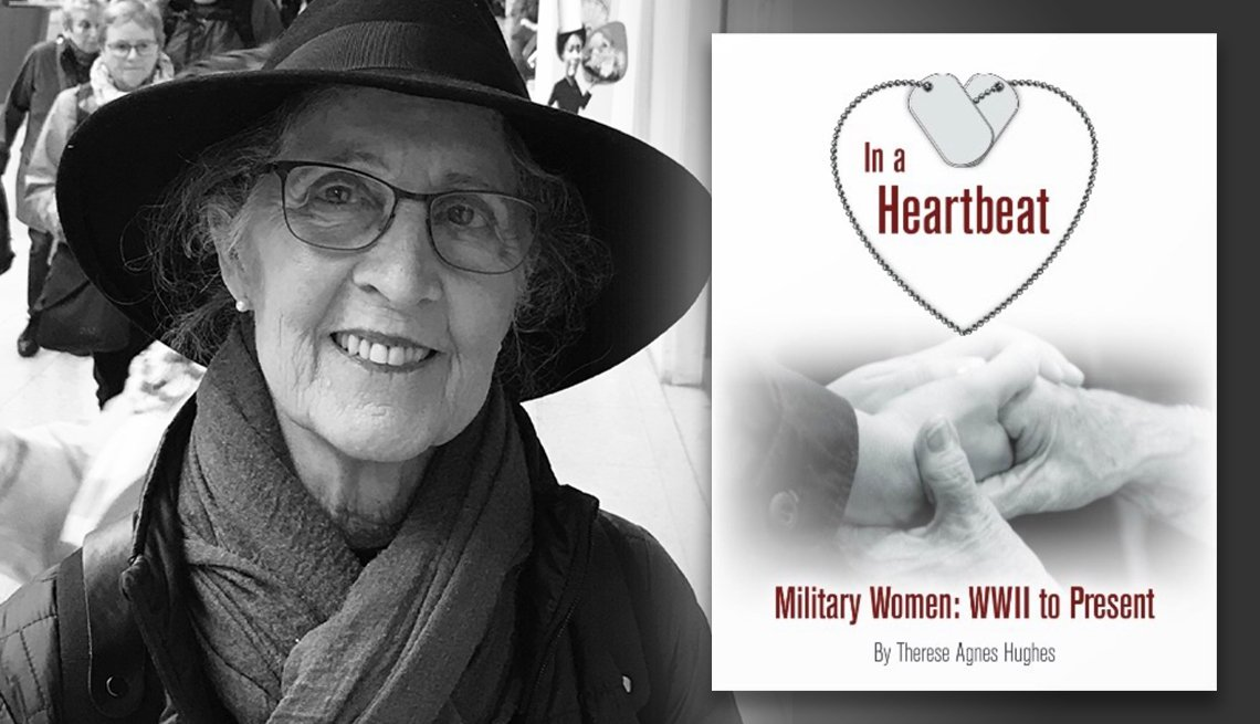 photo of photographer and author therese agnes hughes and her photo book titles in a heartbeat