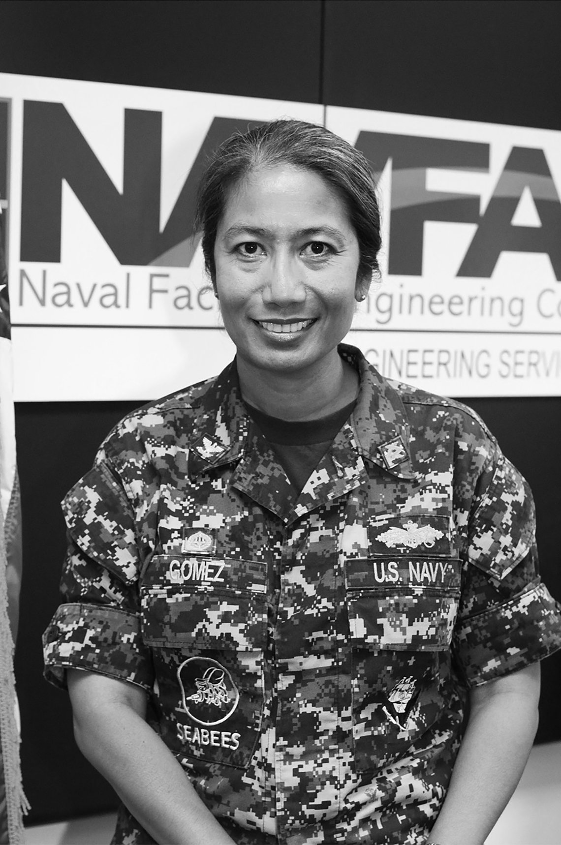 item 5 of Gallery image - photo portrait of captain paz gomez united states navy retired in her uniform