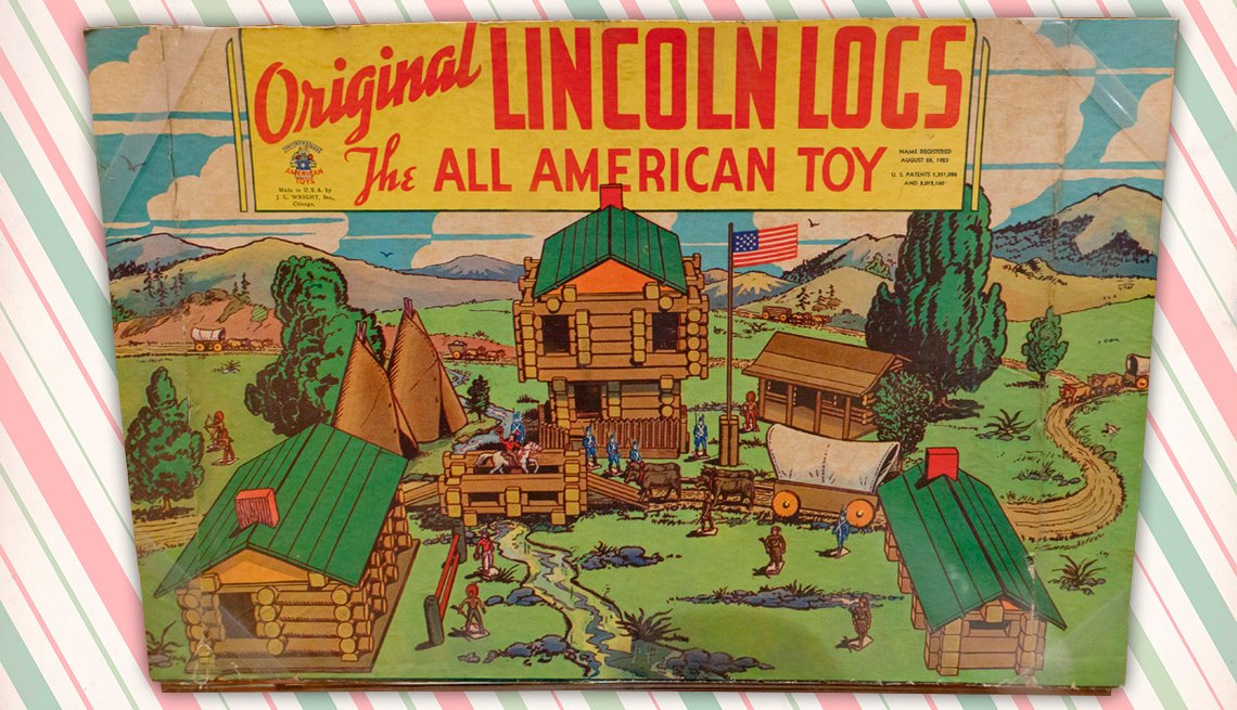 item 10 of Gallery image - box of the original lincoln log toy
