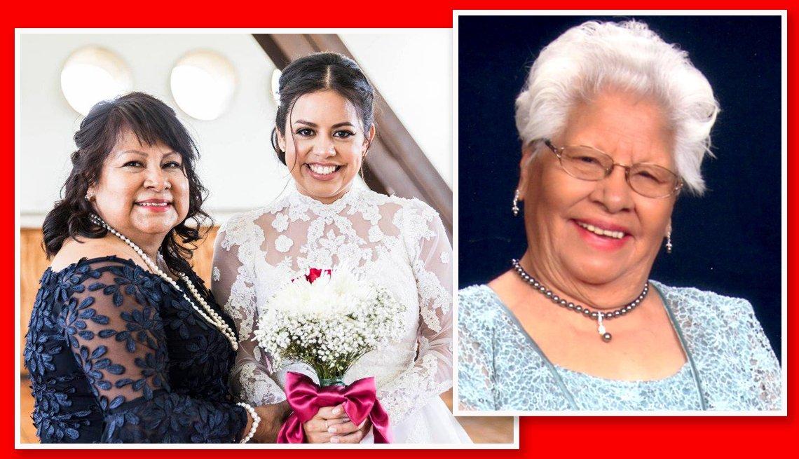 Dolores Villareal con su hija Annette Silva y su madre Isidra Hernandez