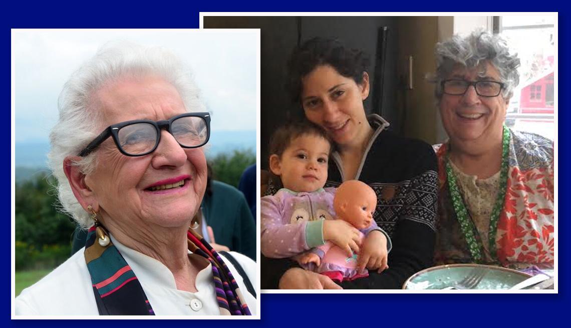 La abuela Mimi Nelson, su nieta Eva Gerard e hija Judi Weinstock