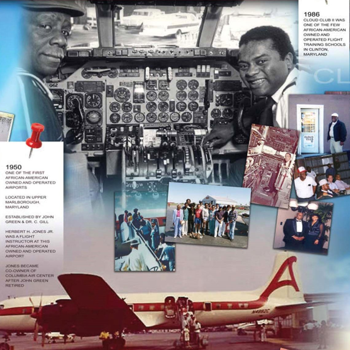 an exhibit about herbert jones and his contributions to aviation