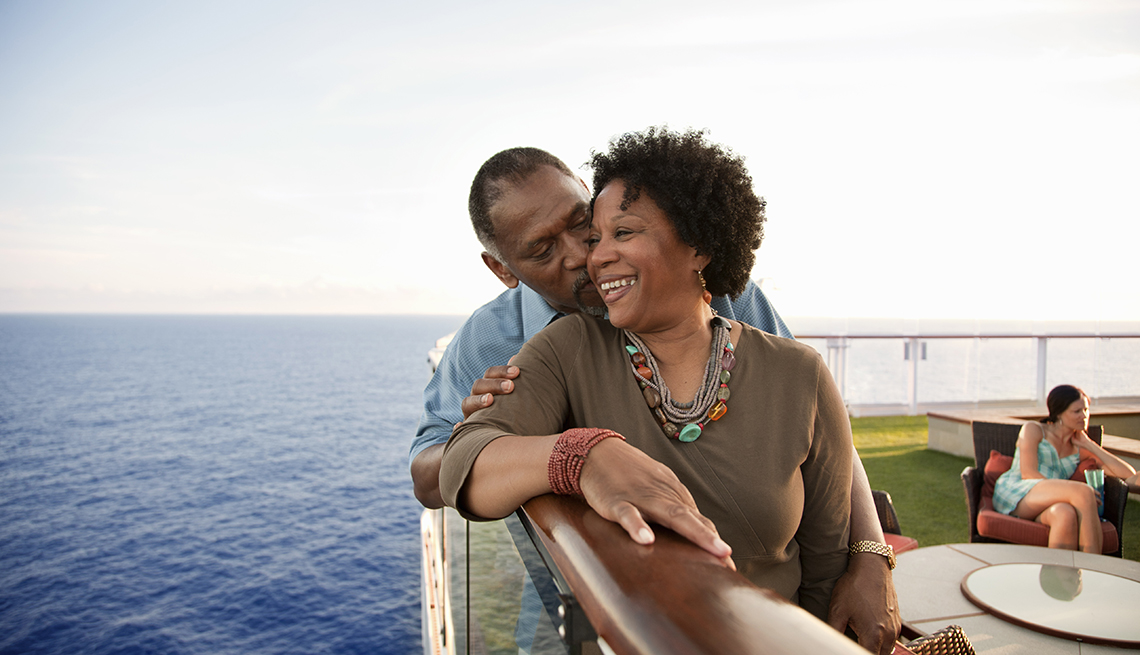 A couple on a cruise