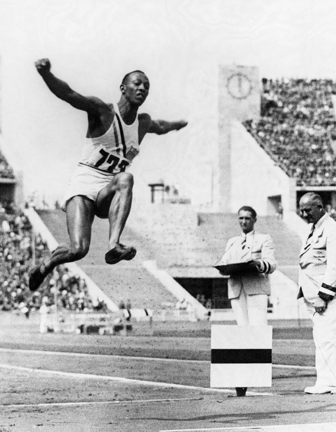 a photo of gold medalist jesse owens