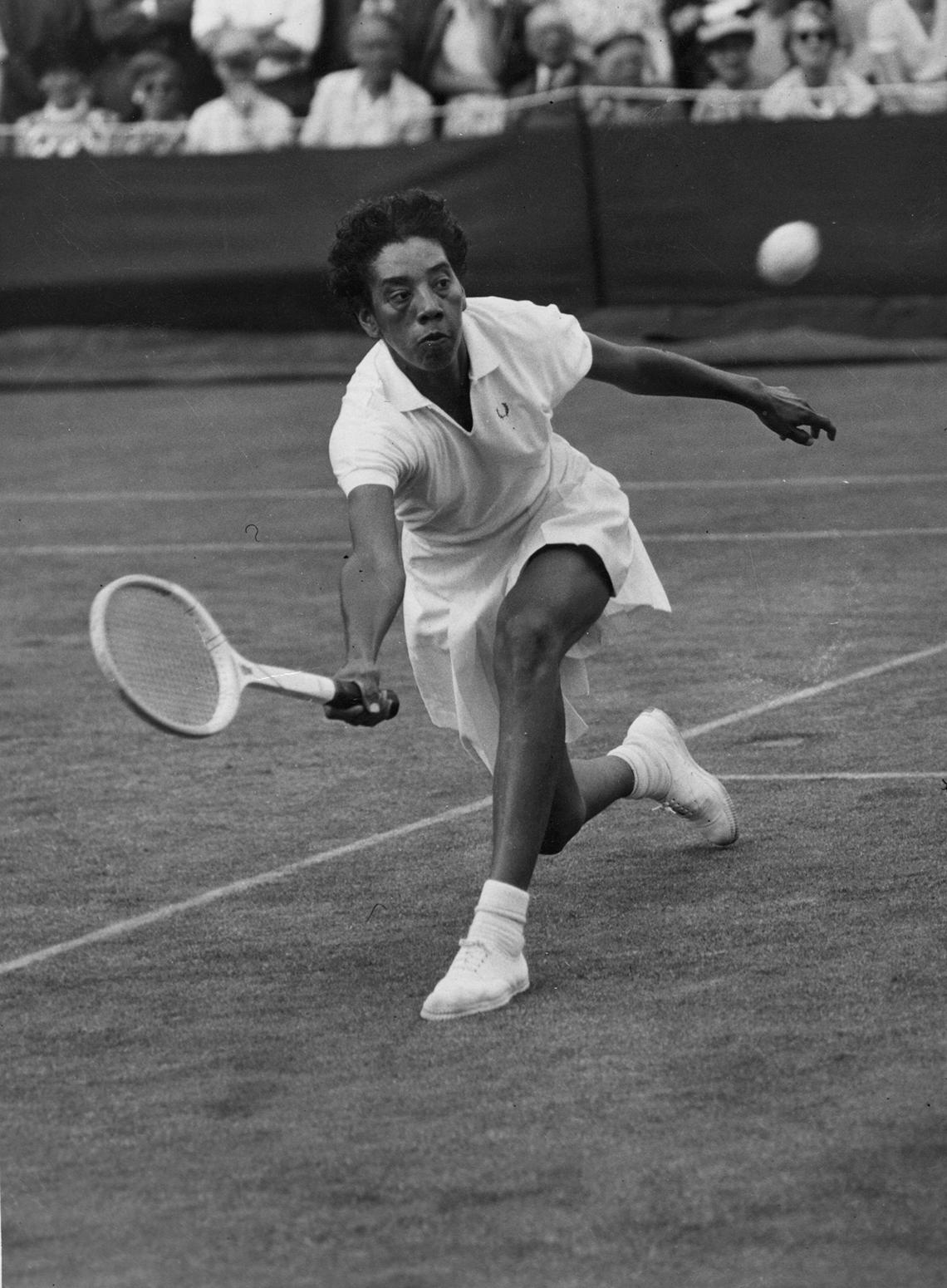 a photo of tennis player althea gibson