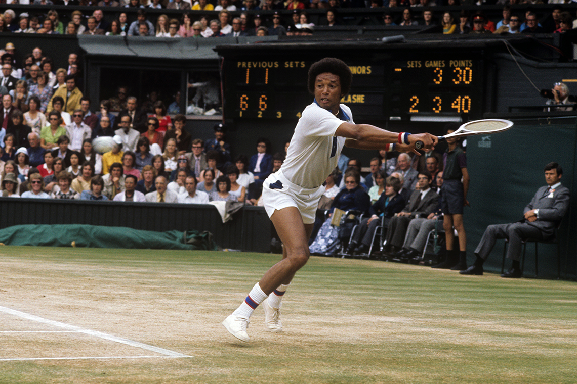 a photo of tennis player arthur ashe